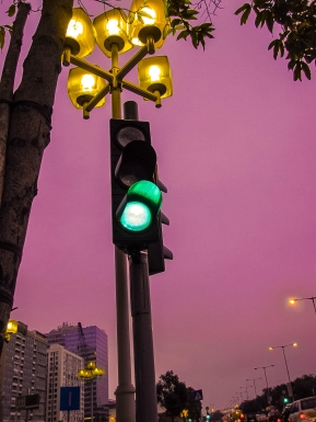 green signal light
